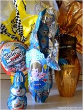 Uova di cioccolato di pasqua