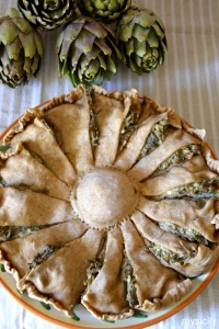 Food_Torta salata_carciofi_ricotta_capperi