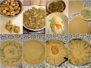 Torta salata_Carciofi_ricotta_capperi