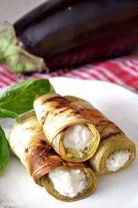 Food_Involtini di melanzane_ricotta_basilico