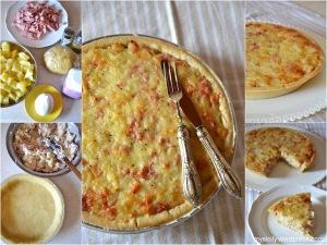 Torta salata_Patate_prosciutto_formaggio