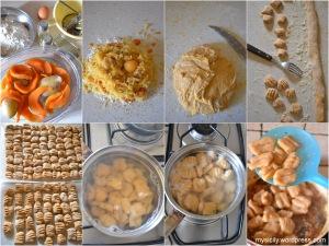 Gnocchi di zucca - patate_salsa di carne e funghi