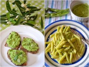 Fave_Pesto di fave con pane e pasta