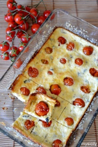 Food_Torta salata  sformato_Pomodorini_formaggio