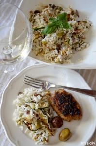 Food_Insalata riso_verdure grigliate
