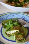 Food_Crepes di spinaci con ricotta e pesto