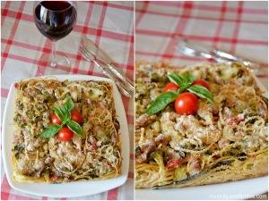Spaghetti_broccoli_salsiccia_al forno