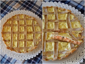 Torta salata al salmone1