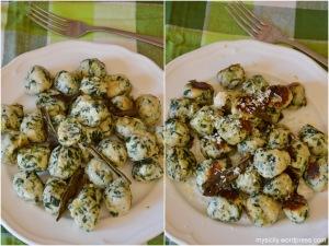 Gnocchi di spinaci e ricotta. Gnudi (2)