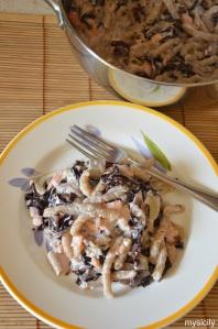 Food_Pasta_radicchio_salmone affumicato_ricotta_noci