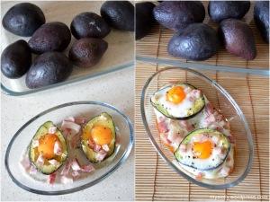 Avocado ripieno con le uova al forno