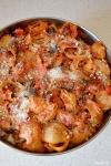 Food_Pasta al forno_melanzane, peperoni, salsiccia