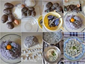Patate_Gnocchi di patate viola
