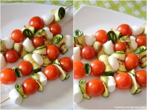 Antipasti_Spiedini di zucchine, pomodorini e mozzarelline