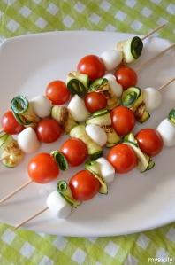 Food_Antipasti_zucchine, pomodorini, mozzarelline